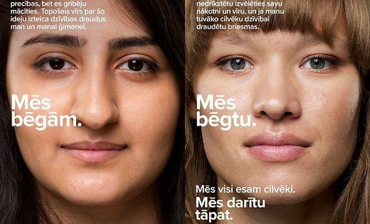 Социальная реклама про беженцев «обидела» латвийское минобороны