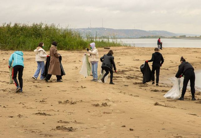 Почти 10 тонн отходов собрали в двух городах в результате очистки берегов Волги