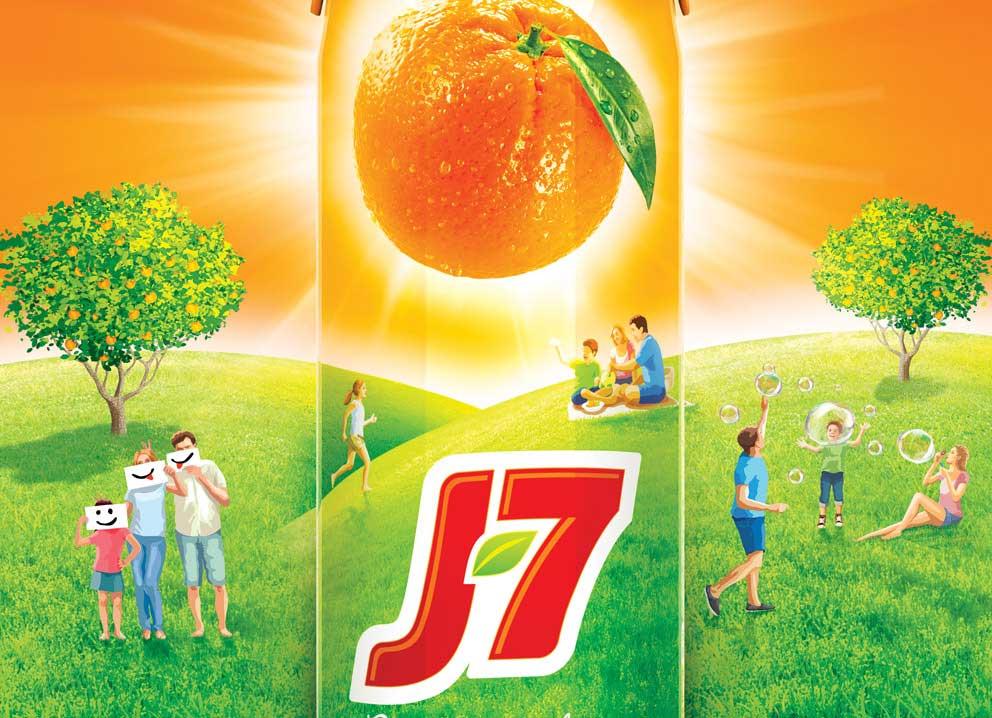Бренд соков J7 представил новую упаковку, позиционирование и рекламную кампанию