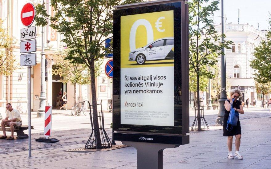 Yandex.Taxi в Вильнюсе: «Мы рекламируем мобильное приложение, а не перевозки»